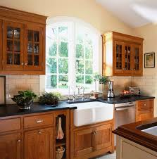 ireland in ct victorian kitchen new york a white farm sink amid rich cherry cabinets with soapstone countertops