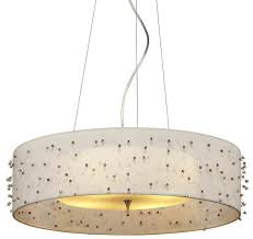 image of how to make a drum shade pendant light
