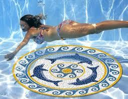 swimming pool logo design. Interesting Pool Pool Art Mosaic Graphic Art Mats Girl_Underwater_Pool_art  With Swimming Logo Design