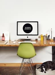 creative office desks. Green Shell Chair Feature Creative Office Desk Clean Scandinavian Design Customizable Interior Minimalist Wooden Floating Desks T
