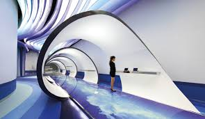 futuristic office ditches cubicles super. Futuristic Office. An Ultra Office For A Chinese Tech Company C Ditches Cubicles Super