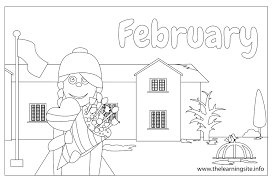 Small Picture February Coloring Page 11605