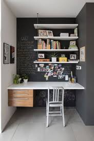 narrow office desks. Small Home Office Design Ideas With Narrow Desks Decoration Plus Wood Shelves And Tile Flooring S