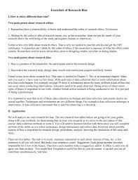 Bias In Research Design Bias Essentials Group 6 Final