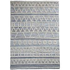 amare hand woven wool recycled denim rug by kaleidoscope kaleidoscope