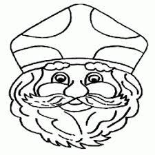 Kleurplaat Sinterklaas Groot Hoofd Kleurplaatarchiefnl