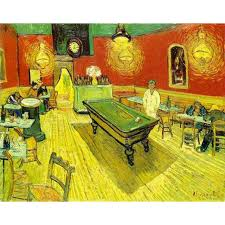 hand painted high quality vincent van gogh abstract the night cafe oil painting canvas bedroom hallway