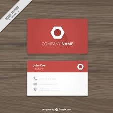 Red Business Card With A Hexagonal Logo Vector Premium Download