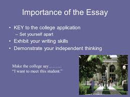importance of the essay key to the college application set  2 importance of the essay