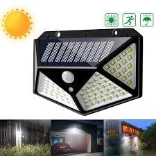 Solar Led Landscape Lights 114 Led Outdoor Solar Power Pir Motion Sensor Wall Light Waterproof Garden Lamp