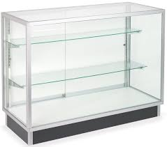 Metal glass cabinet Black Displays2go Glass Laminate Door Cabinets Four Foot Wide Display Cases