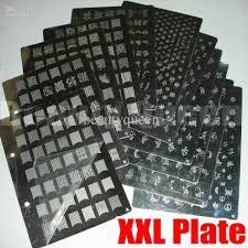 Nail Art XL XXL Stamp Stamping Plate A to K Image Plate French ...