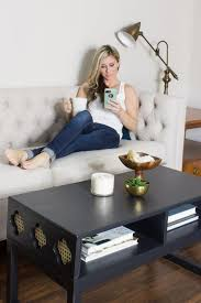 diy coffee table with cane clover