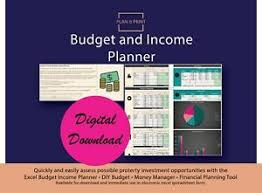 Details About Budget Income Planner Diy Budget Money Manager Financial Planning Tool