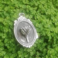 sterling silver protea pendant in vintage frame goldfish jewellery design studio