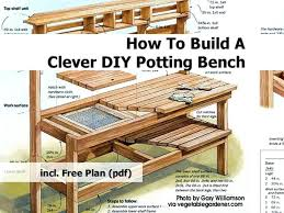 potting benches garden bench made from pallets