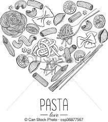 italian restaurant clipart black and white. Contemporary And Vector Vintage Italian Pasta Restaurant Illustration In Heart Shape Hand  Drawn Banner Great For Menu Banner Flyer Card Business Promote For Italian Restaurant Clipart Black And White S