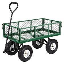 garden cart. Gorilla Carts Steel Utility Garden Cart With Removable Sides, 400-Pound Capacity U