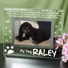 engraved dog memorial glass picture frame