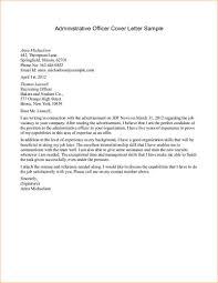 26 Sample Cover Letter Administrative 12 Cover Letter For