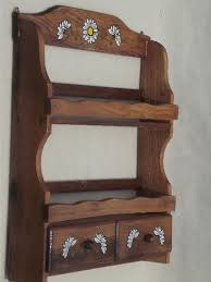 Wooden Spice Rack Wall Mount Fascinating Vintage Wood Spice Rack Wall Shelves And Glass Bottle Spice Jars