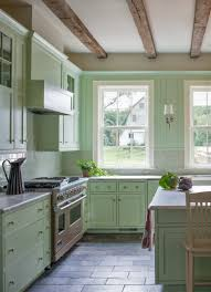 Green And Grey Kitchen Farmhouse Kitchen Mclean Va Donald Lococo Architects