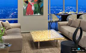 contemporary art furniture. table du0027or contemporary art as modern luxury furniture spotlighting the yves klein