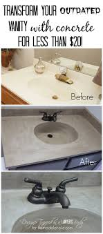 Painted Bathroom Countertops Spray Painted Bathroom Counter Stone