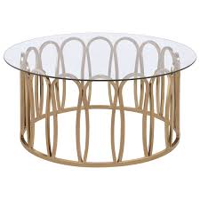 705788 modern round coffee table with metal base