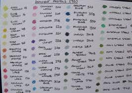 Pastel Pencil Colour Charts Colin Bradley Art