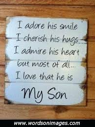 To My Son Quotes Mesmerizing Love Quotes For Son And I Love My Son Quotes For Create Cool Love