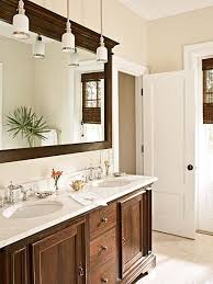 lighting over bathroom mirror. Bathroom. Instead Of Typical Vanity Lights Above The Mirror Using Hanging Pendant Lighting Over Bathroom