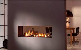 image of double sided gas fireplace repair
