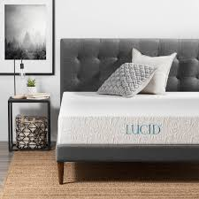 10 inch plush gel memory foam mattress