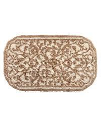 damask bath rug