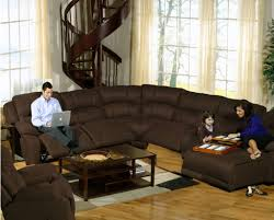 living room ideas with brown sectionals. Elegant Living Room Ideas With Wooden Spiral Staircase Using Brown Leather Sectional Sofa For Small Space Sectionals