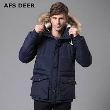 2017 New Men's Quilted Parka Puffer Jacket Hooded Faux Fur Lined ... & 2017 New Men's Quilted Parka Puffer Jacket Hooded Faux Fur Lined Thicken  Warm Coats Outwear Winter Man Jackets Male Parka Coat -in Parkas from Men's  ... Adamdwight.com
