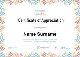 Certificate Of Appreciation Volunteer Work International Volunteer Day 2018 Volunteering Tasmania