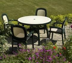 resin round patio table