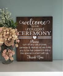 unplugged wedding sign wood wedding welcome sign rustic wood unplugged ceremony sign rustic wedding decor country wedding