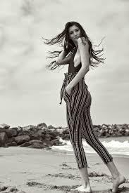 nadine joelle stracqualursi the industry model management la los angeles bp pants black and white fashion