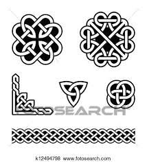Celtic Pattern Best Clip Art Of Celtic Knots Patterns Vector K48 Search