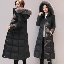 best long down jacket women winter coats natural fox fur collar white duck down parkas hooded thicken warm snow clothes new arrival under 87 44 dhgate