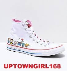 Hello Kitty Size Chart Converse Chuck Taylor All Star X Hello Kitty White Shoes Us Women Sz New In Box Ebay