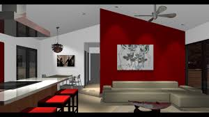 Accent Wall In Living Room red accent wall red accent wall living room design youtube 2214 by xevi.us