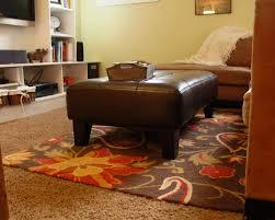 area rug over carpet floor