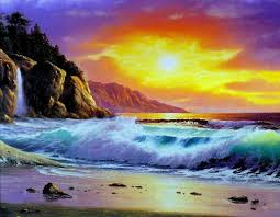 how beautiful beach sunset painting to draw sunset at palm beach with pastel part layering rhyoucom
