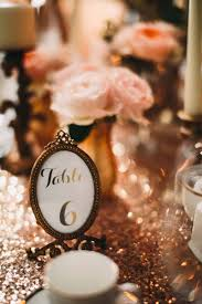 table numbers in small gold frames knowsley hall