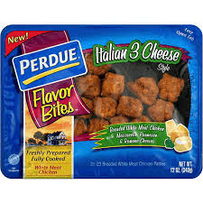 High in protein and fibre. Perdue Flavor Bites Chicken Patties Breaded White Meat Italian 3 Cheese Style Cooked Foods The Marketplace