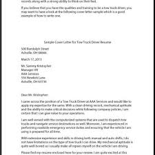 Cover Letter For Truck Driver Best Truck Driver Cover Letter